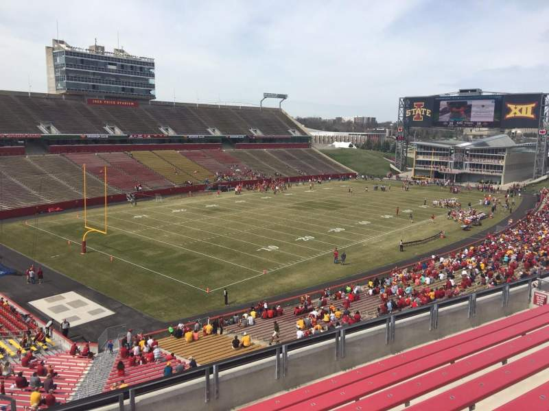 Seating view for Jack Trice Stadium Section R Row 8 Seat 1