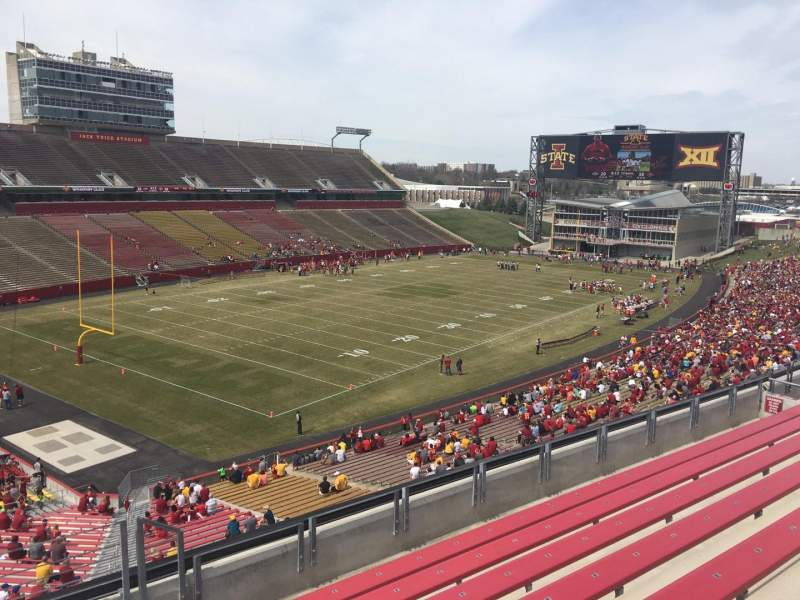 Seating view for Jack Trice Stadium Section Q Row 8 Seat 16