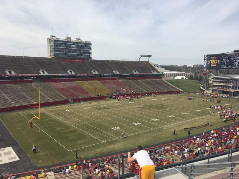 Seating view for Jack Trice Stadium Section S Row 8 Seat 8