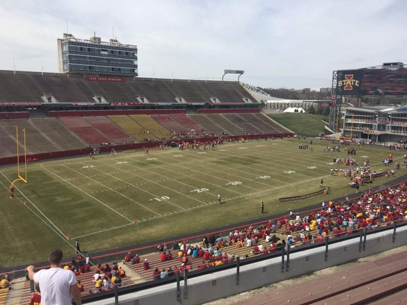 Seating view for Jack Trice Stadium Section T Row 8 Seat 1