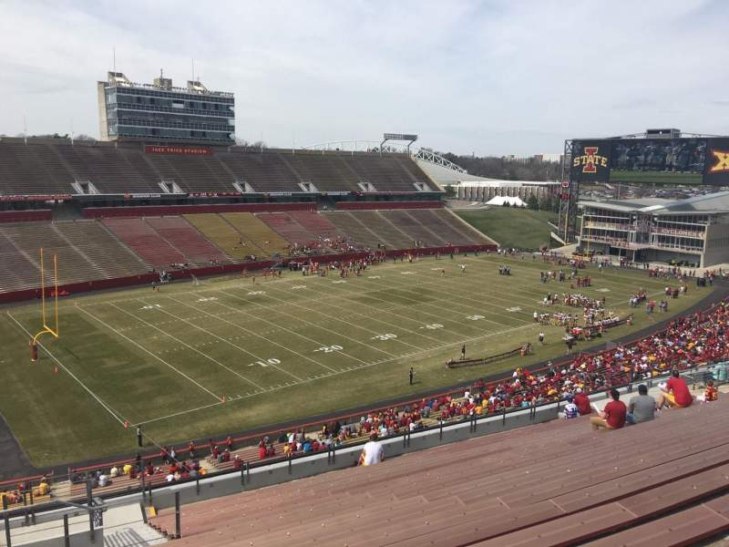 Seating view for Jack Trice Stadium Section T Row 20 Seat 1