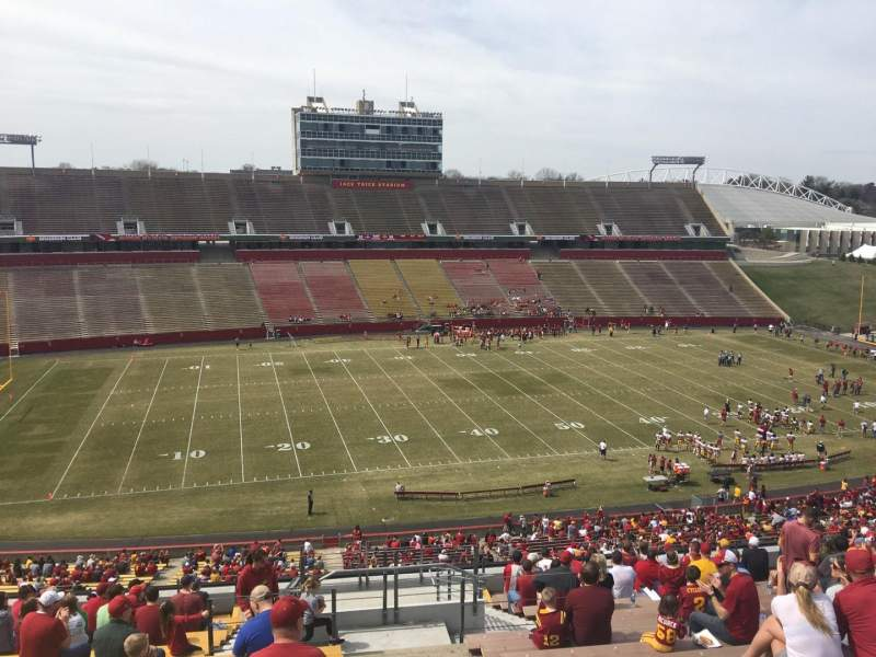 Seating view for Jack Trice Stadium Section U Row 20 Seat 42