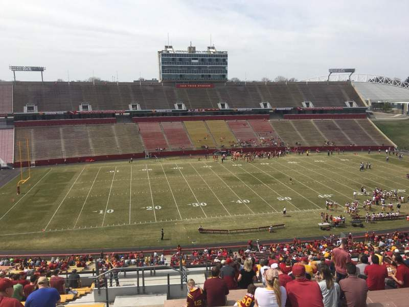 Seating view for Jack Trice Stadium Section V Row 20 Seat 1