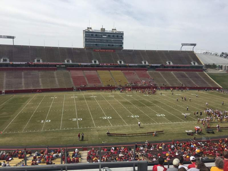 Seating view for Jack Trice Stadium Section V Row 9 Seat 1
