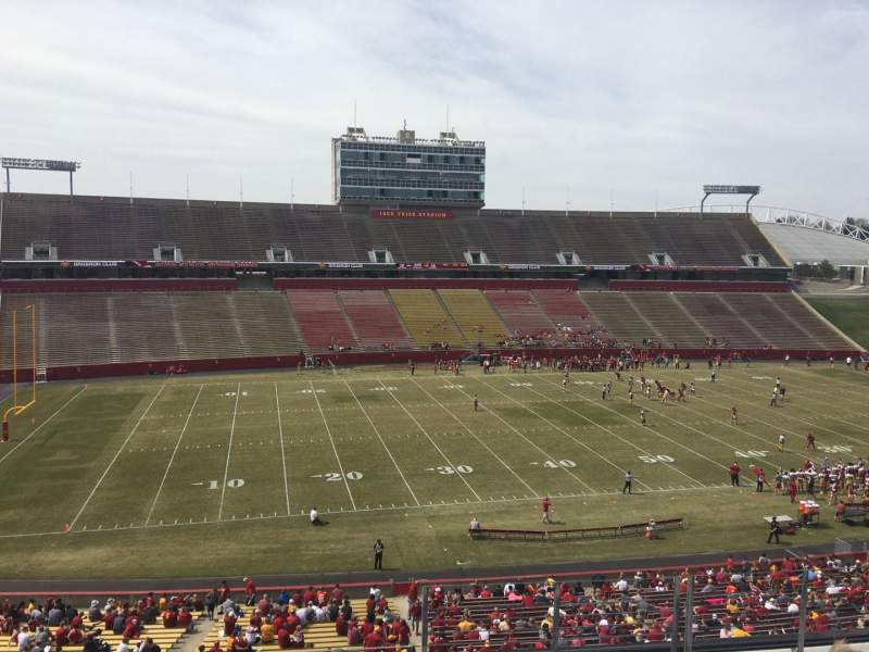 Seating view for Jack Trice Stadium Section U Row 9 Seat 37