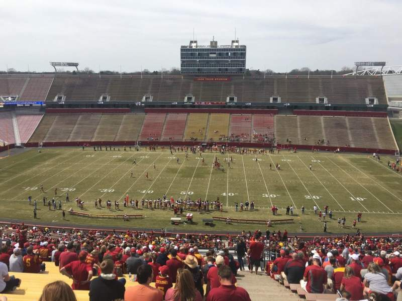 Seating view for Jack Trice Stadium Section W Row 27 Seat 44