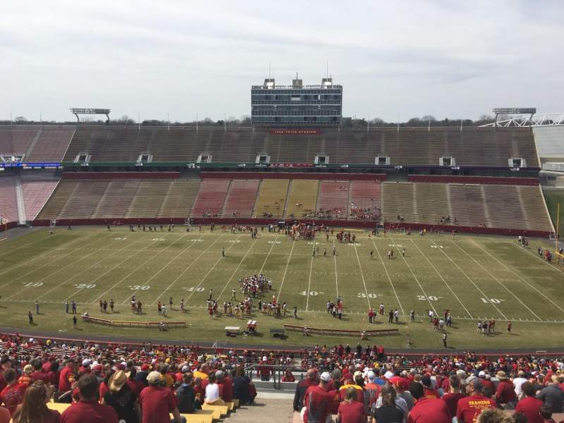 Seating view for Jack Trice Stadium Section X Row 27 Seat 1