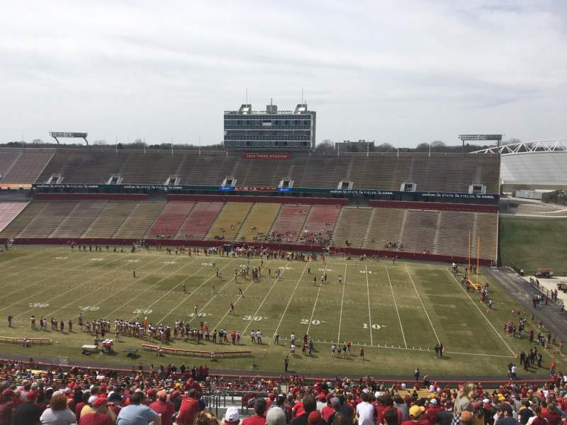 Seating view for Jack Trice Stadium Section Y Row 28 Seat 4