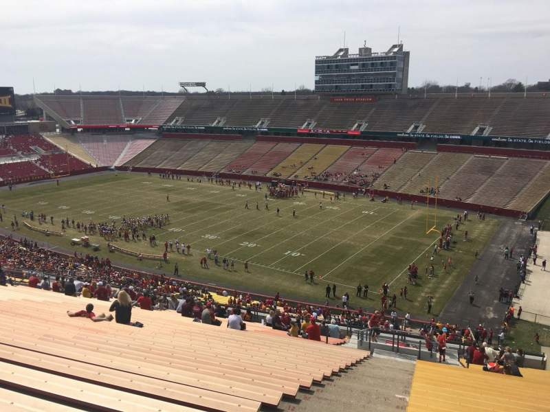 Seating view for Jack Trice Stadium Section ZZ Row 28 Seat 1