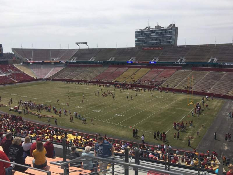 Seating view for Jack Trice Stadium Section ZZ Row 11 Seat 1