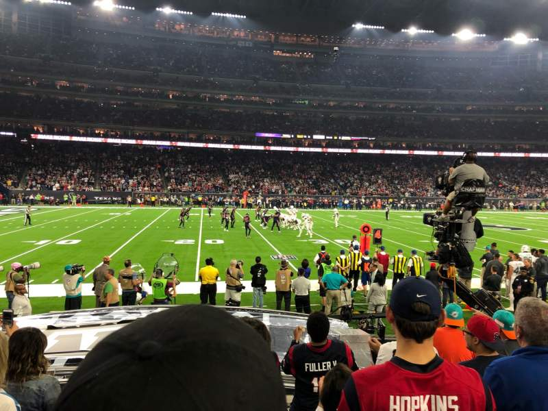 Seating view for NRG Stadium Section 129 Row F Seat 7-8