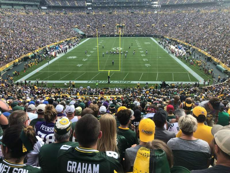 Seating view for Lambeau Field Section 100 Row 55 Seat 2-4