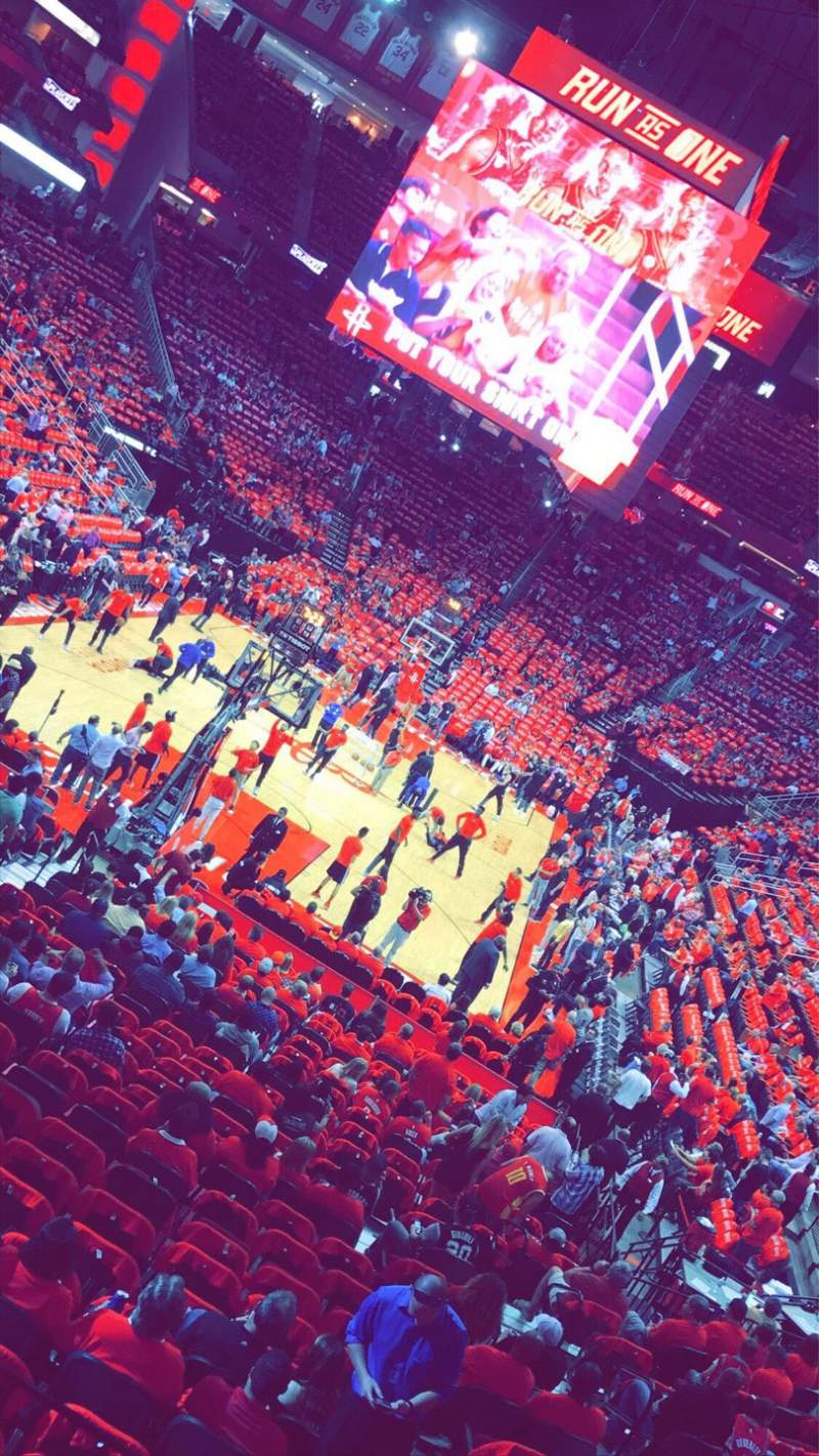 Seating view for Toyota Center Section 126 Row 22