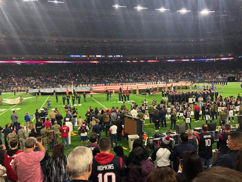 Seating view for NRG Stadium Section 108 Row H Seat 15-16
