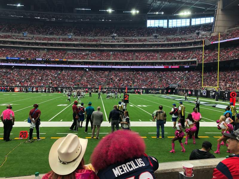 Seating view for NRG Stadium Section 104 Row C Seat 5