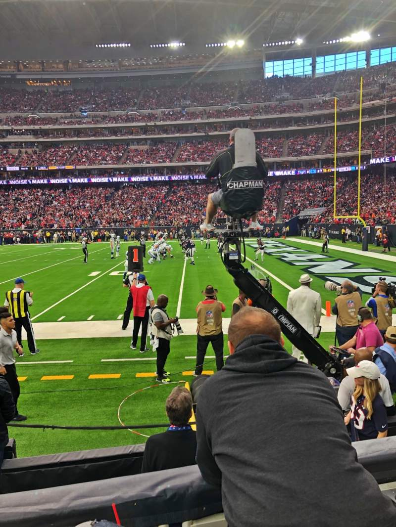 Seating view for NRG Stadium Section 123 Row B