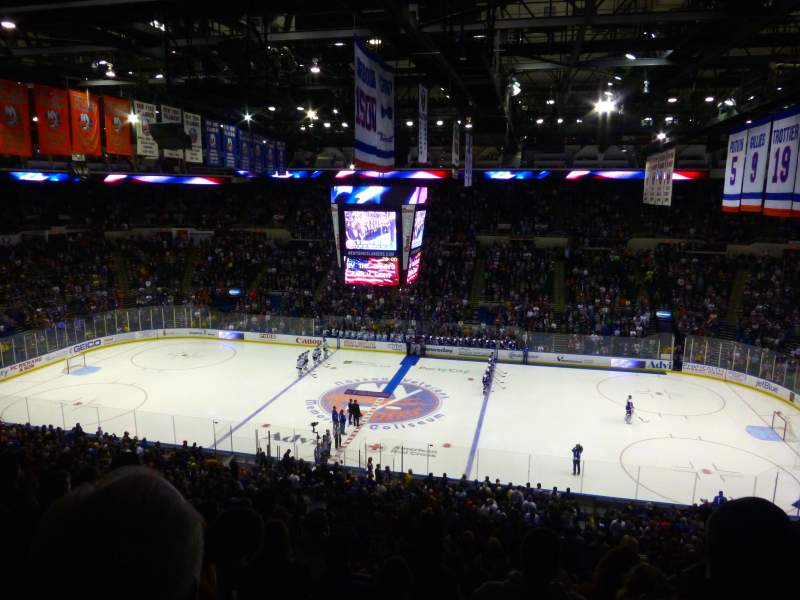 Seating view for Old Nassau Veterans Memorial Coliseum Section 302 Row J Seat 5