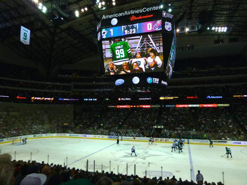 Seating view for American Airlines Center Section 106 Row V Seat 7