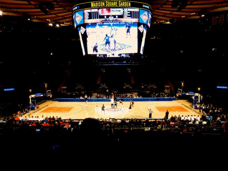 Seating view for Madison Square Garden Section 107 Row 20 Seat 9