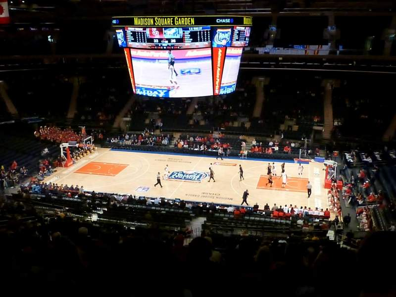 Seating view for Madison Square Garden Section 212 Row 11 Seat 10
