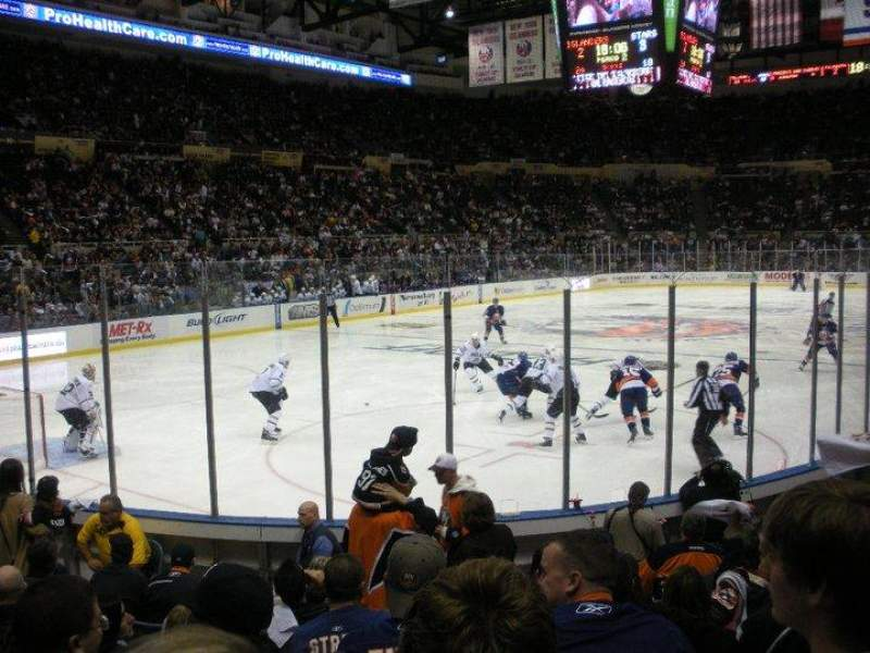 Seating view for Old Nassau Veterans Memorial Coliseum Section 107 Row J Seat 2
