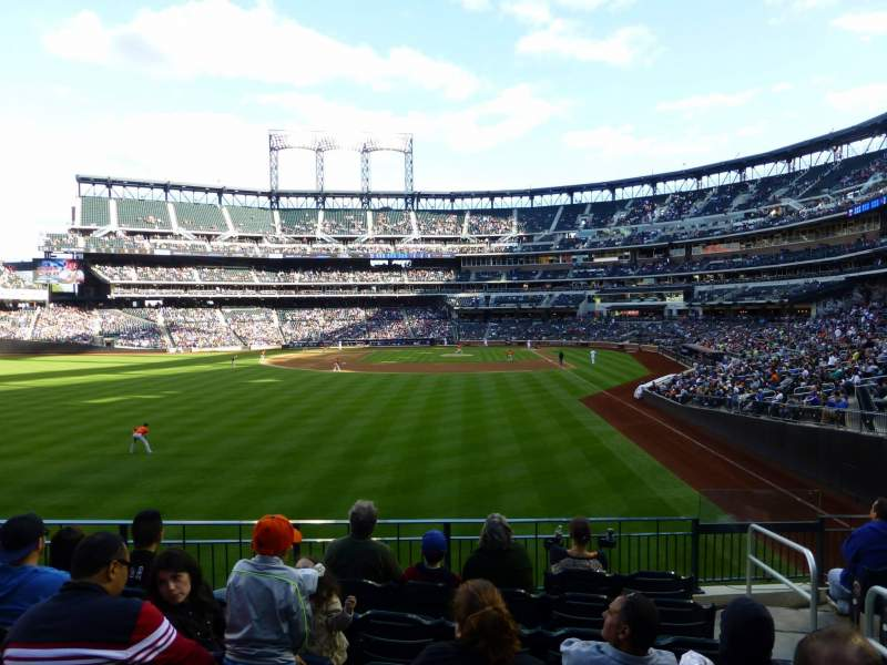 Seating view for Citi Field Section 134 Row 4 Seat 5