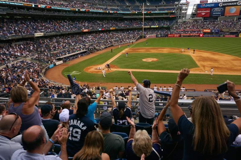 Seating view for Yankee Stadium Section 216 Row 6 Seat 214