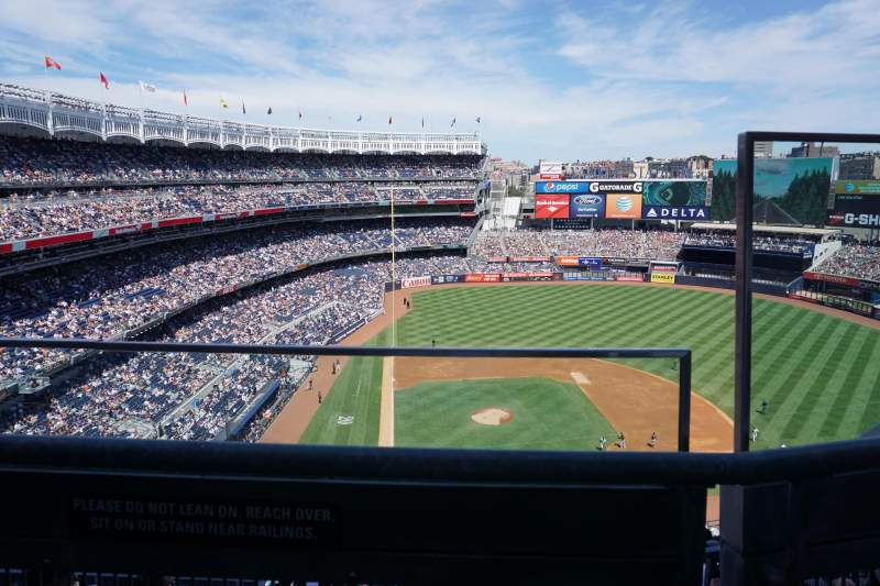 Seating view for Yankee Stadium Section 418 Row 1 Seat 2