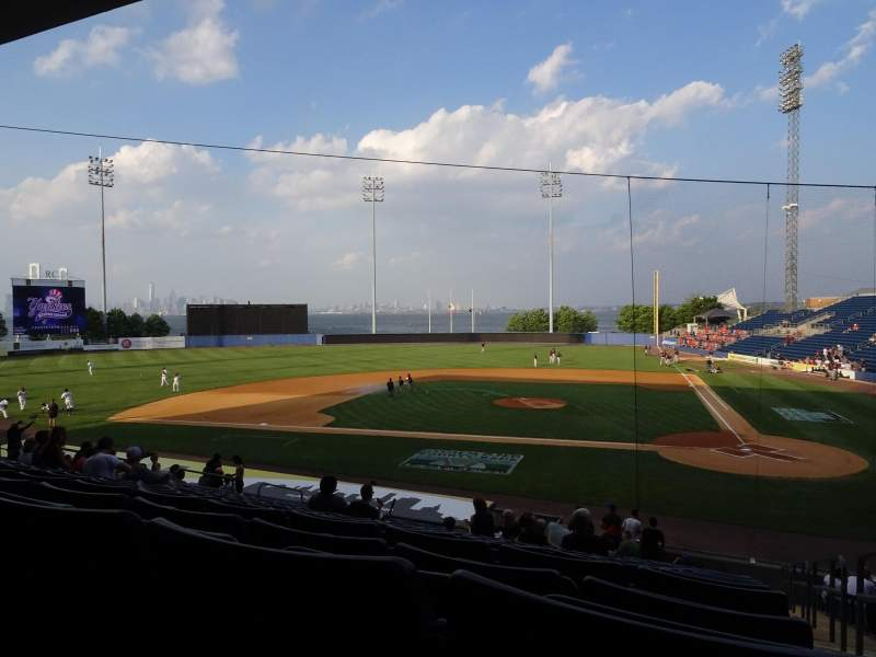 Seating view for Richmond County Bank Ballpark Section 7 Row V Seat 1
