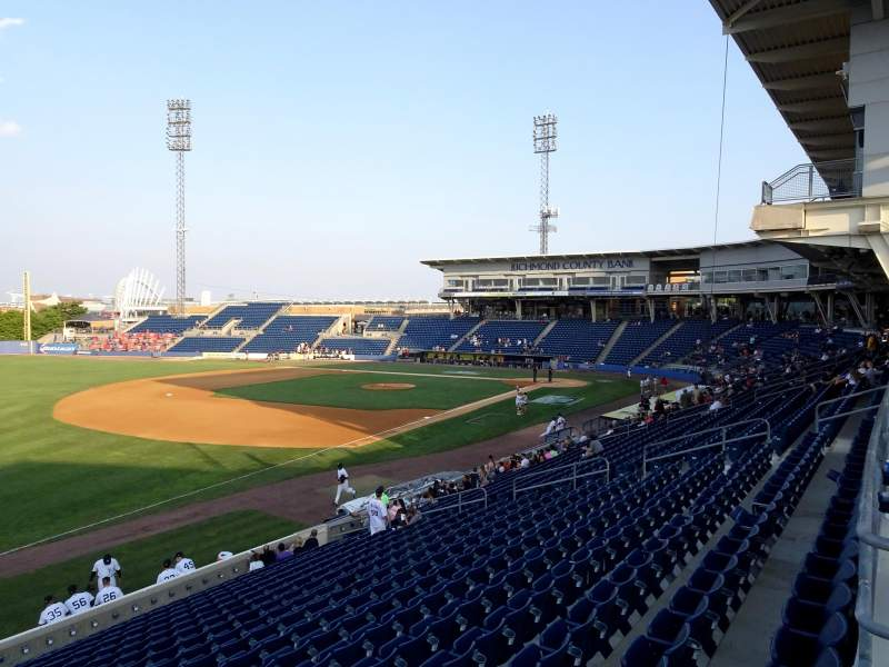 Seating view for Richmond County Bank Ballpark Section 3 Row 1C Seat 6