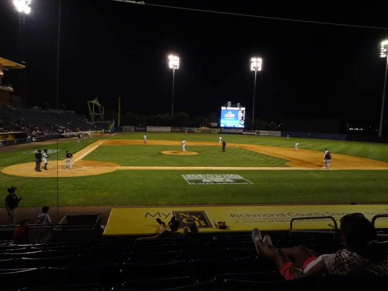 Seating view for Richmond County Bank Ballpark Section 11 Row M Seat 3