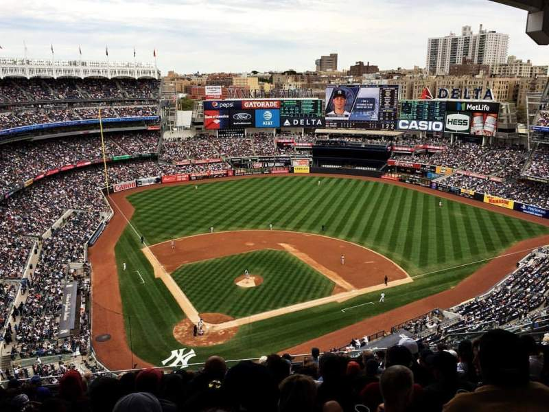 Seating view for Yankee Stadium Section 419 Row 12 Seat 16