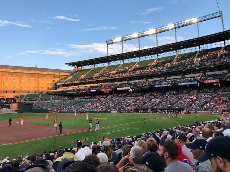 Seating view for Oriole Park at Camden Yards Section 58 Row 18 Seat 12