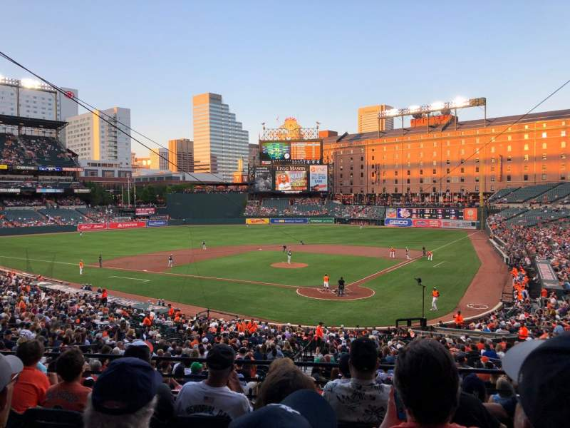 Seating view for Oriole Park at Camden Yards Section 39 Row 6 Seat 11