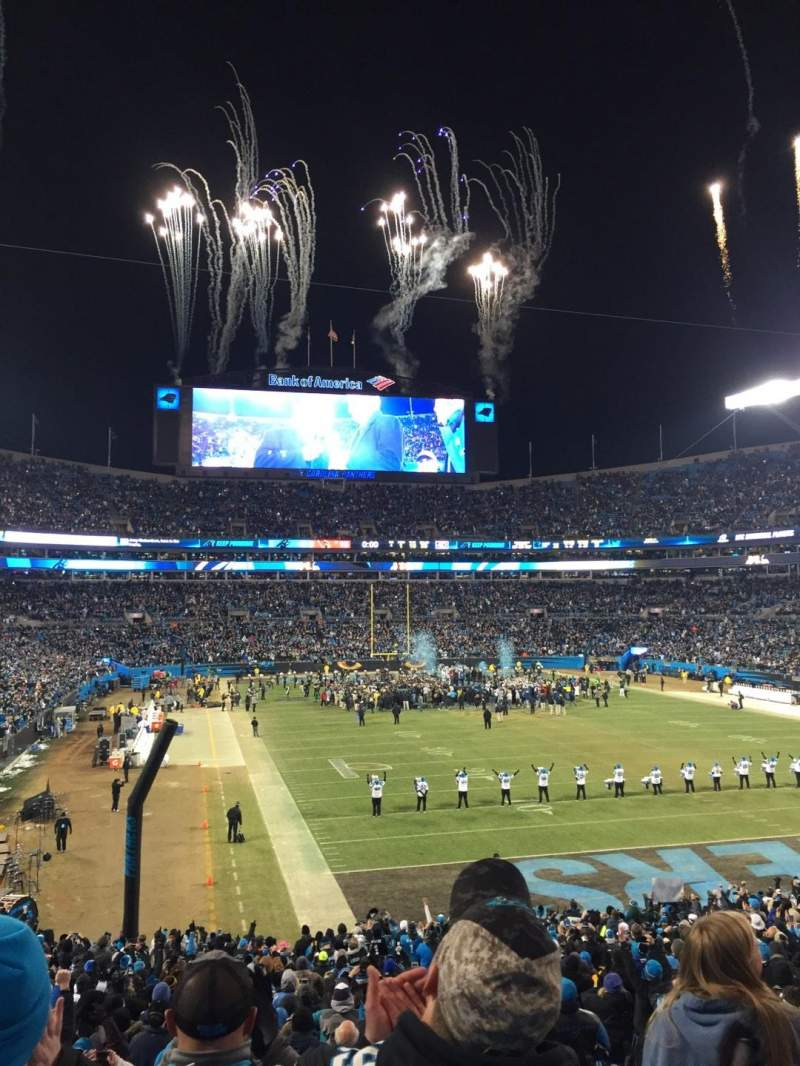 Seating view for Bank of America Stadium Section 232 Row 4 Seat 7