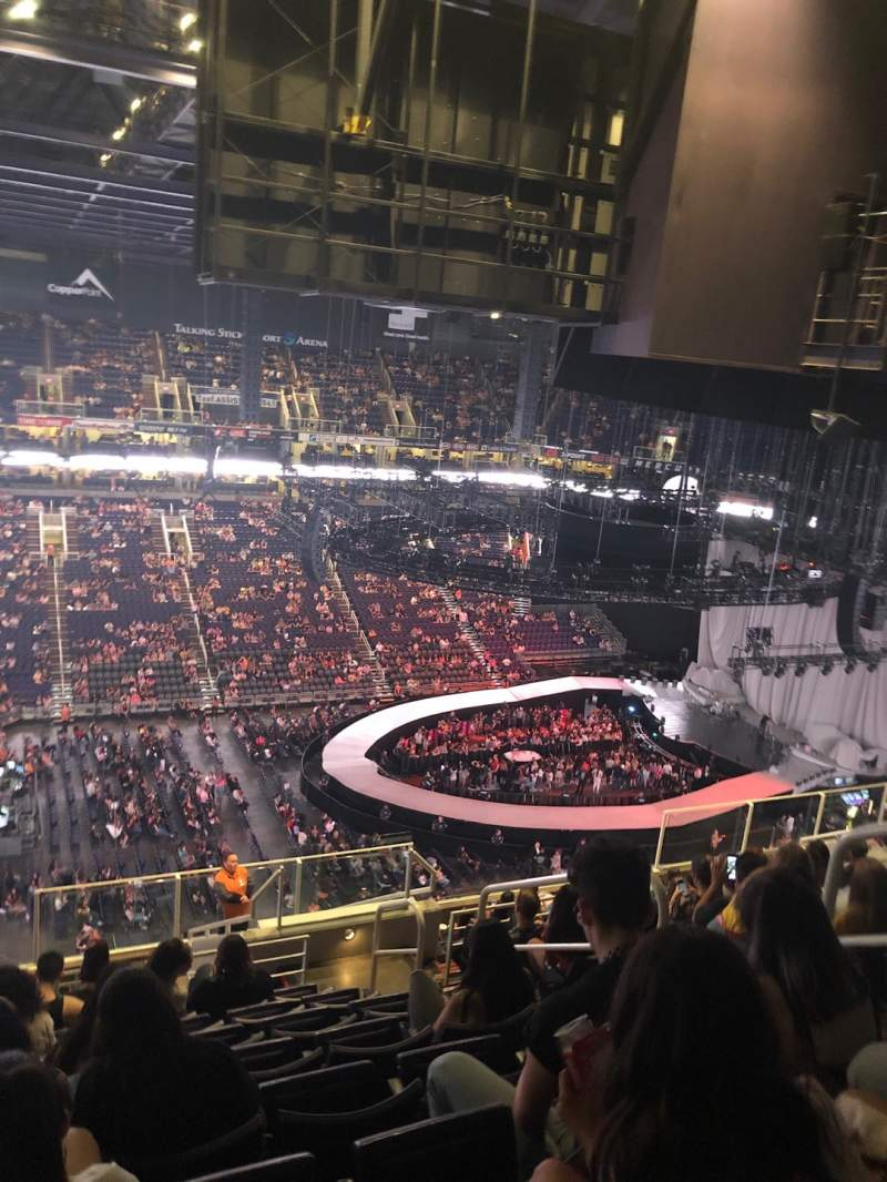 Seating view for PHX Arena Section 205 Row 14 Seat 5