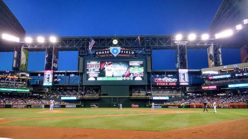 Seating view for Chase Field Section G Row A