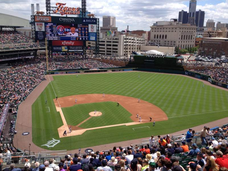 Seating view for Comerica Park Section 324 Row 18 Seat 8