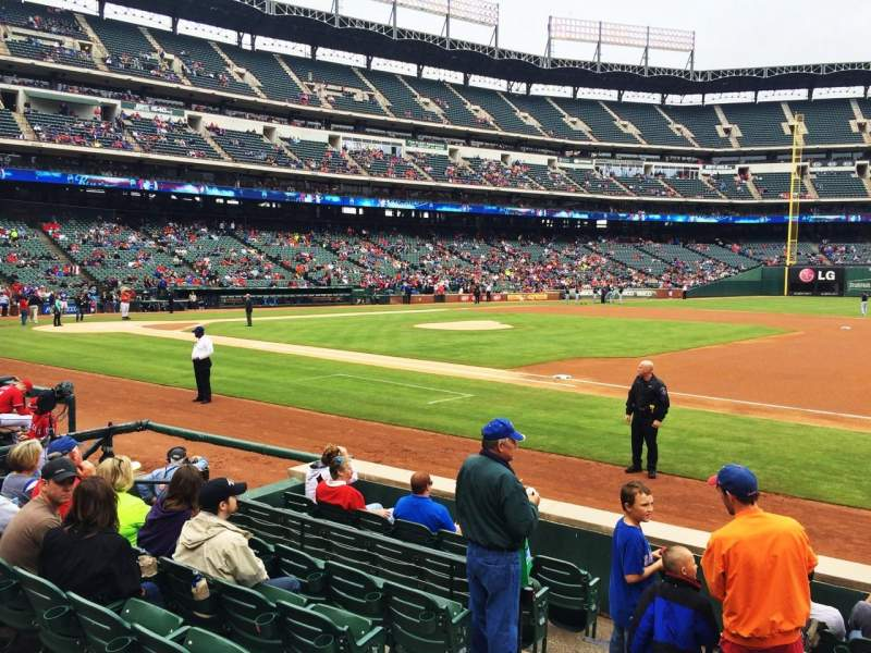 Seating view for Globe Life Park in Arlington Section 34 Row 6 Seat 3