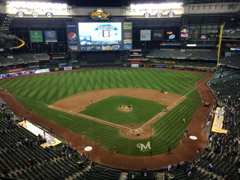 Seating view for Miller Park Section 423 Row 4 Seat 13