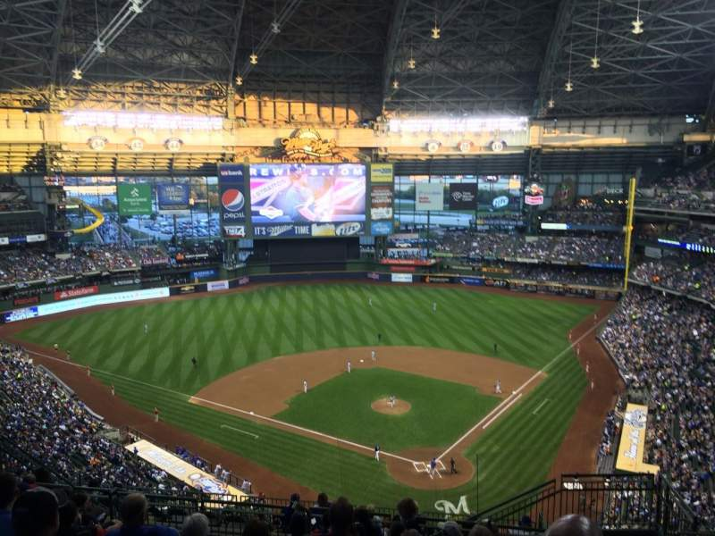 Seating view for Miller Park Section 434 Row 17 Seat 3