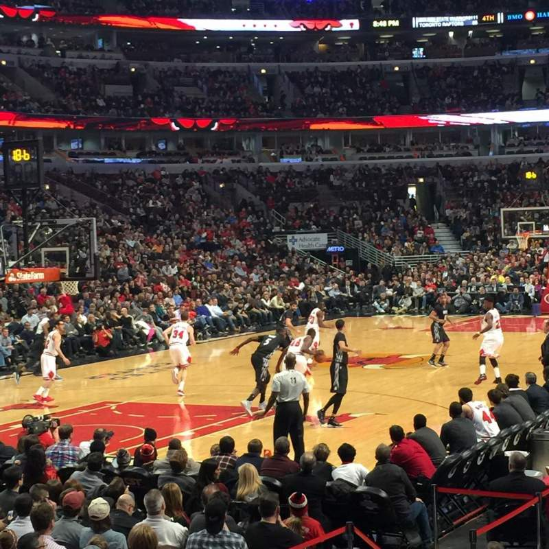 Seating view for United Center Section 104 Row 8 Seat 5