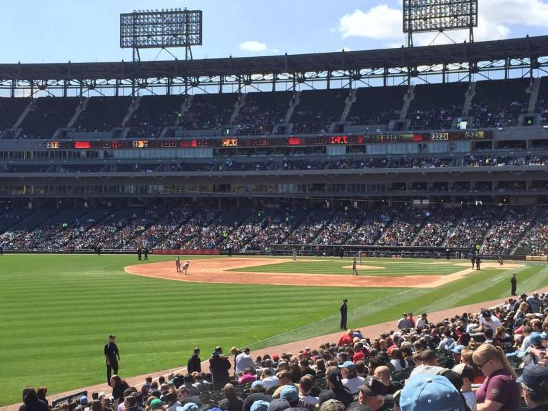Seating view for Guaranteed Rate Field Section 154 Row 25 Seat 14