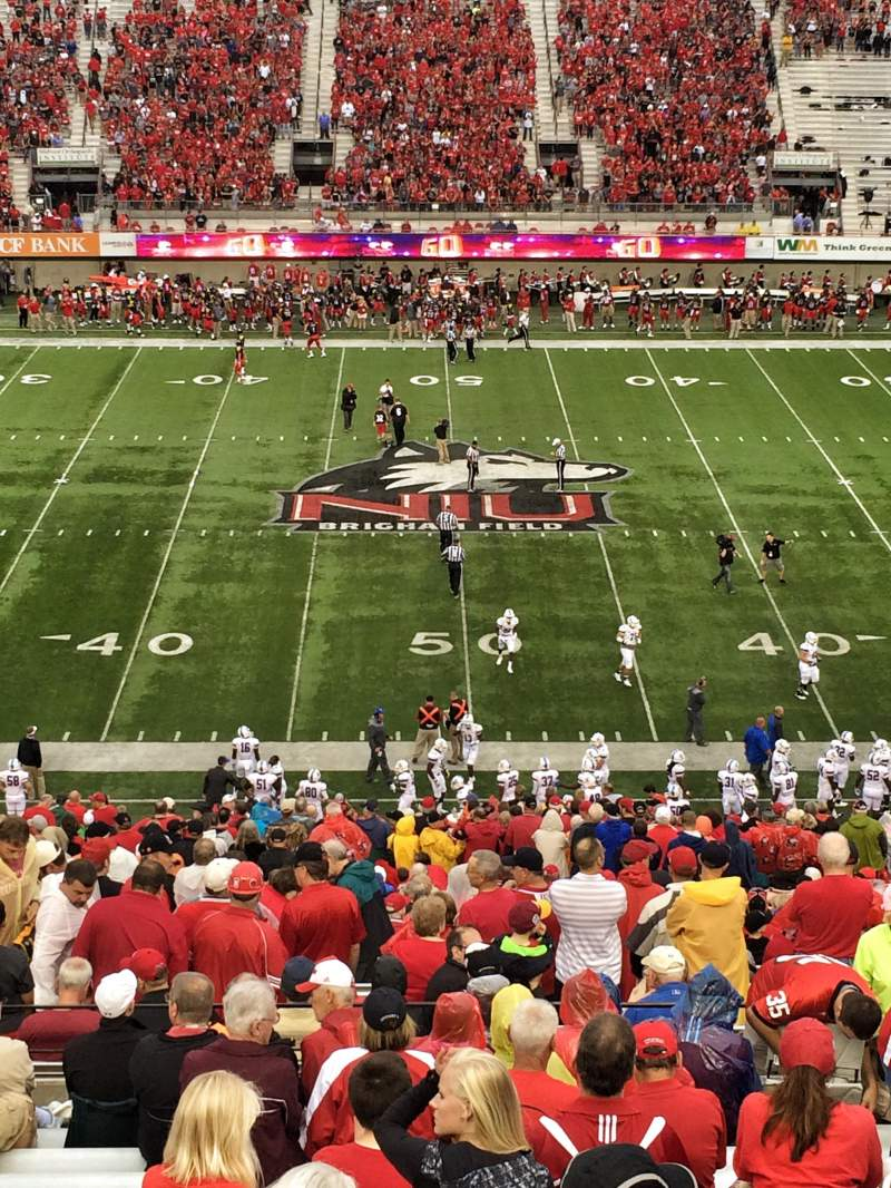 Seating view for Huskie Stadium Section D Row 60 Seat 20