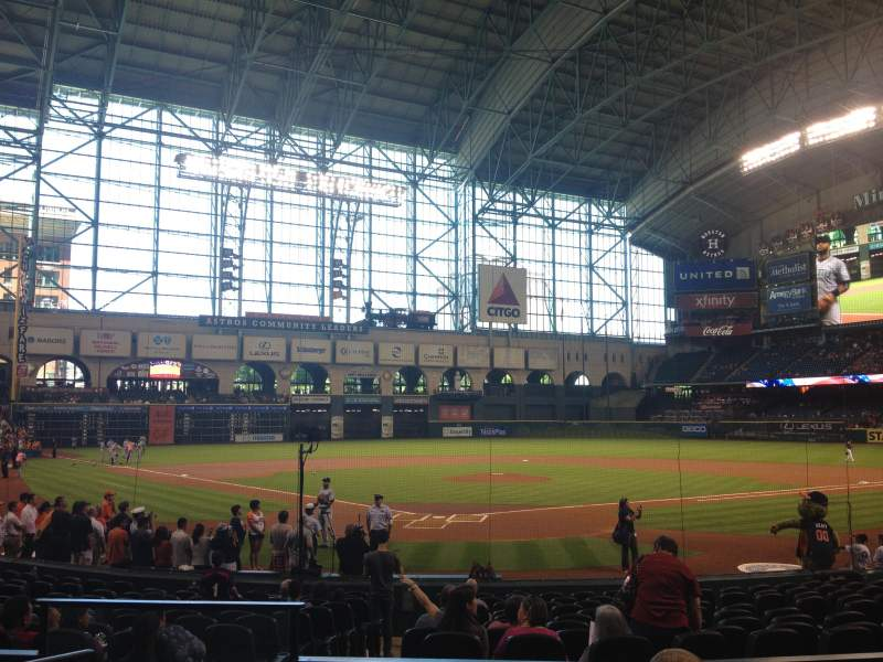 Seating view for Minute Maid Park Section 120 Row 17 Seat 3