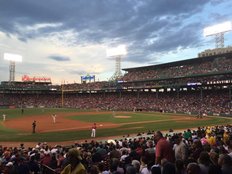 Seating view for Fenway Park Section Loge Box 157 Row KK Seat 3