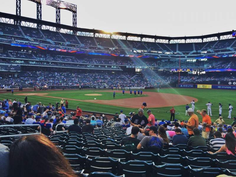 Seating view for Citi Field Section 110 Row 19 Seat 10