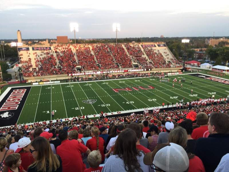 Seating view for Huskie Stadium Section F Row 69 Seat 14