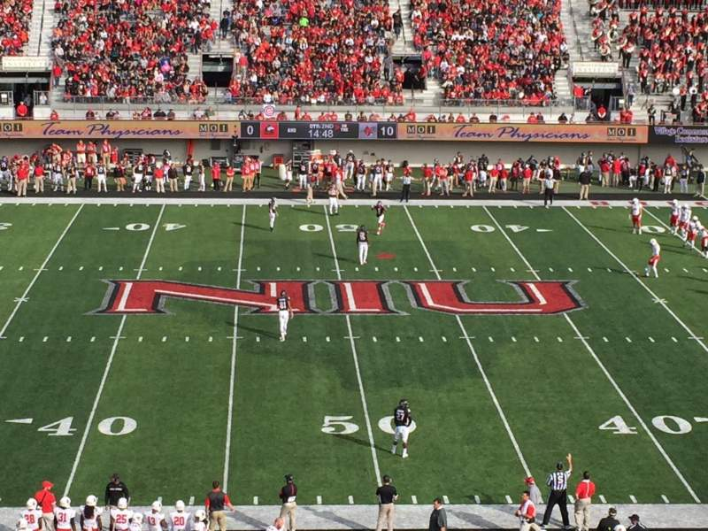 Seating view for Huskie Stadium Section D Row 49 Seat 39