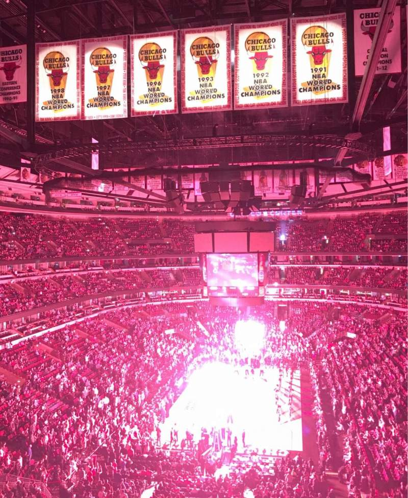Seating view for United Center Section 325 Row 3 Seat 10
